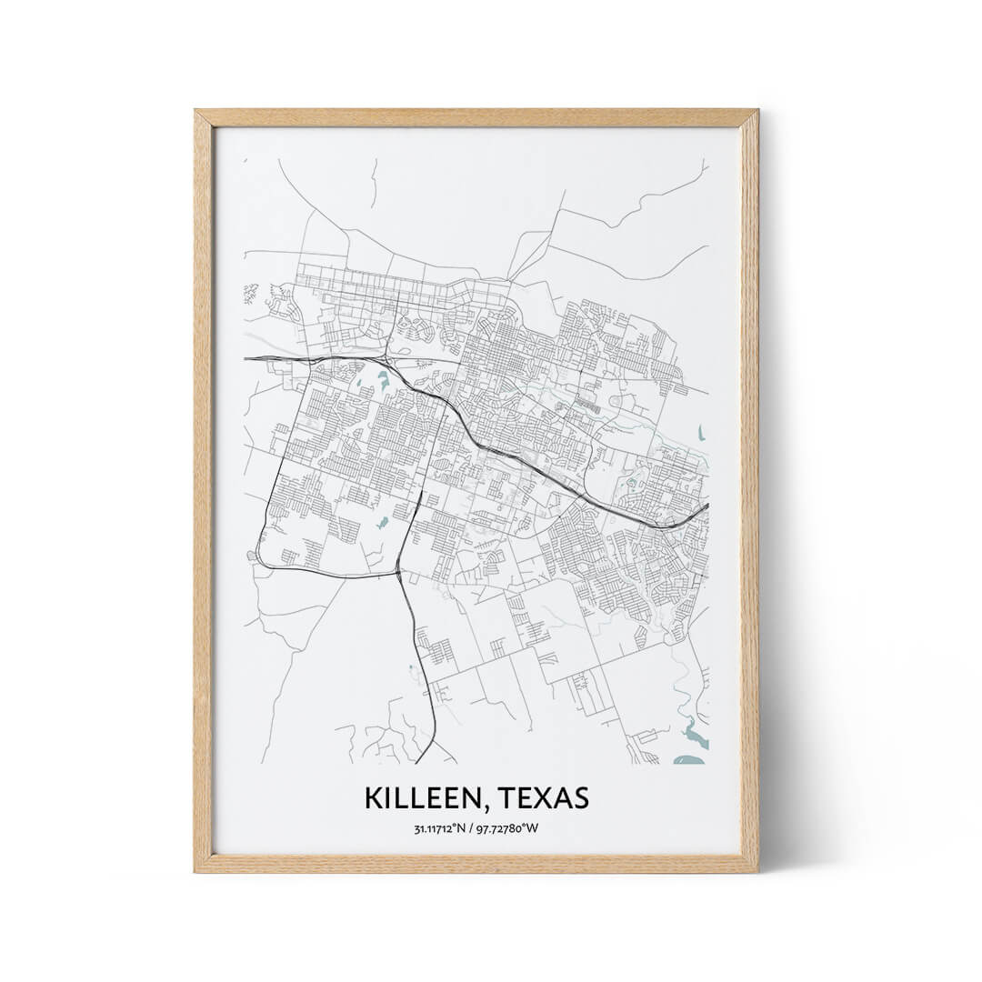 Killeen city map poster