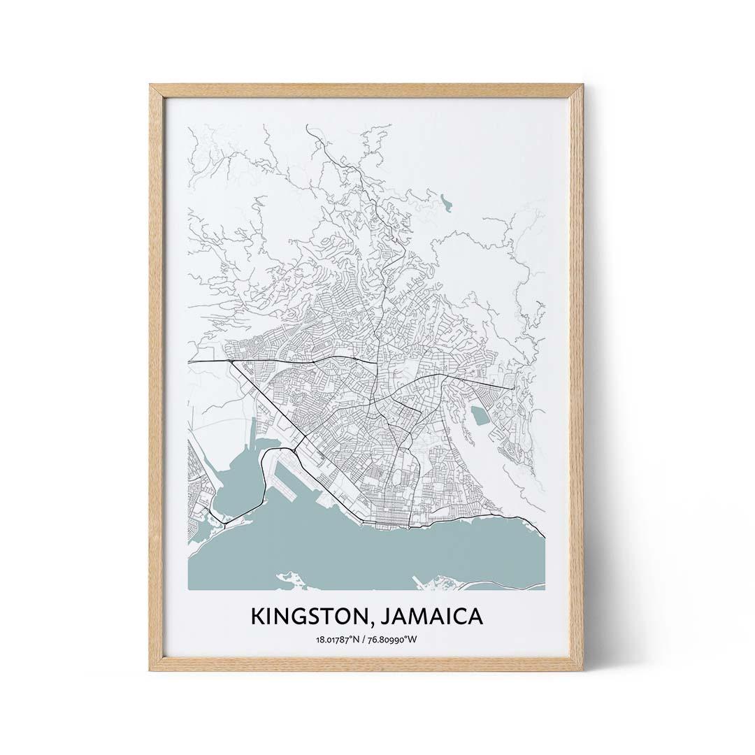 Kingston Jamaica city map poster