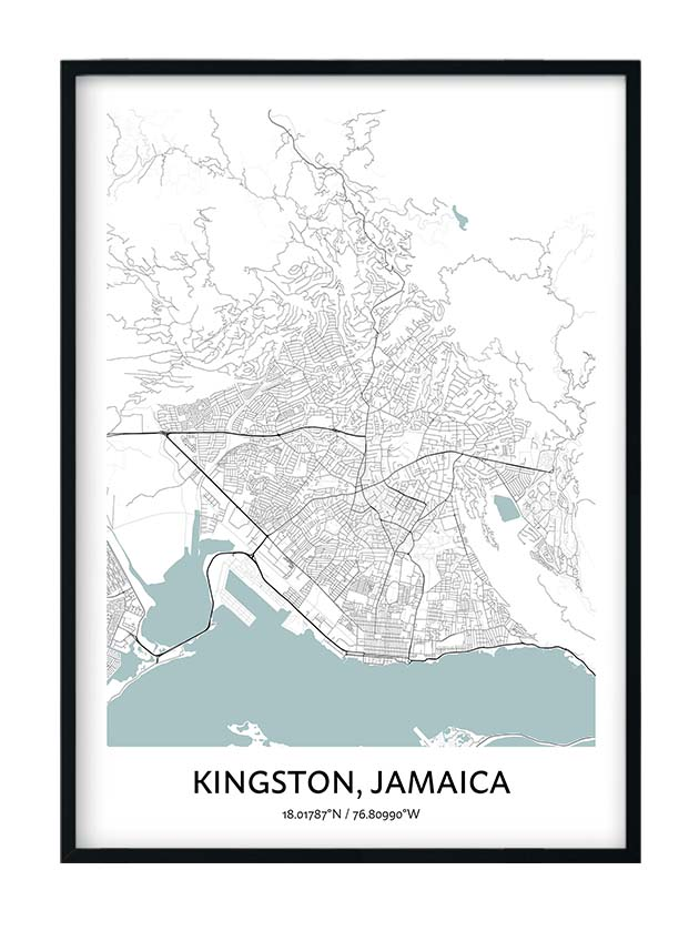 Kingston Jamaica poster