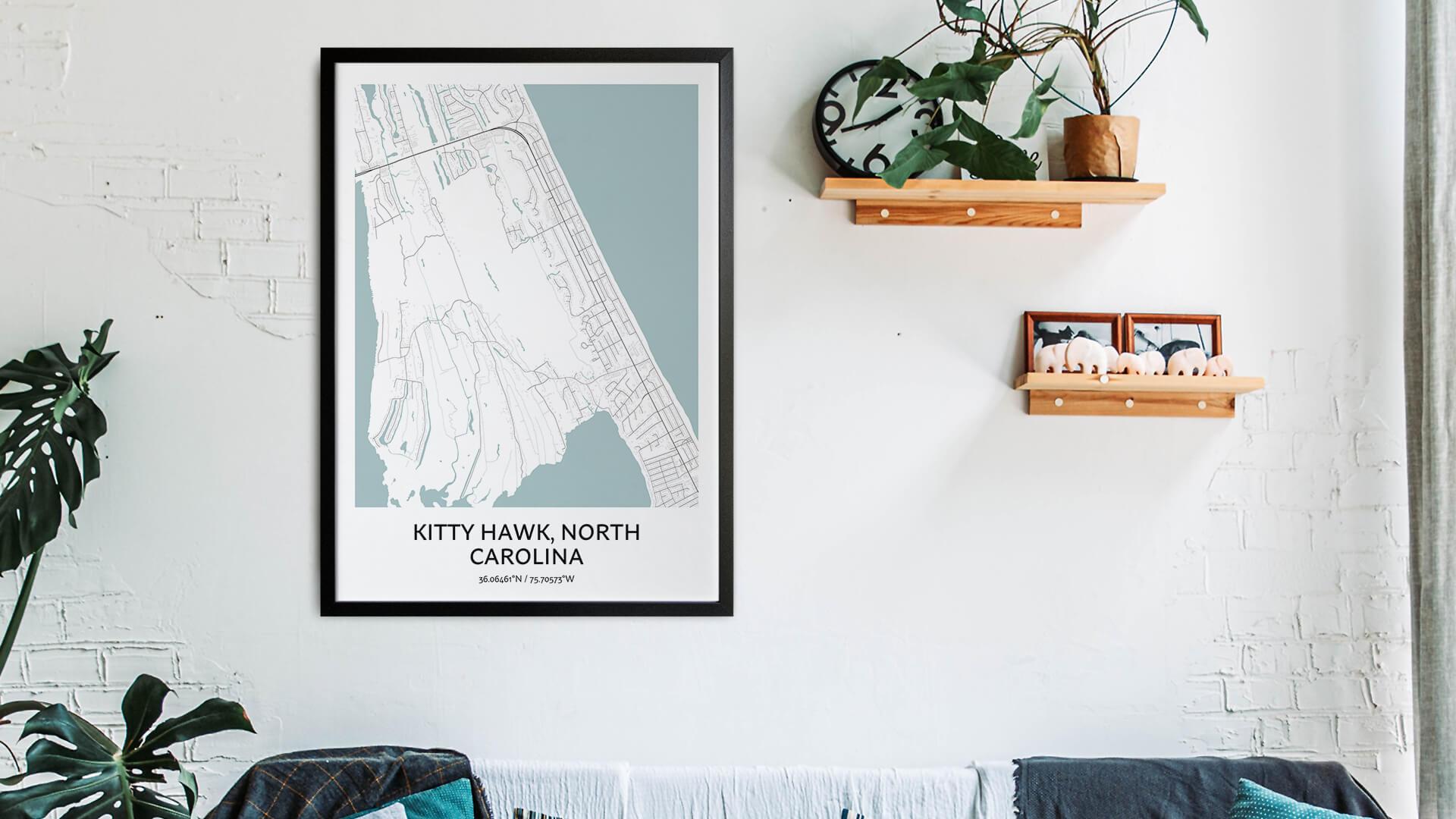 Kitty Hawk map art