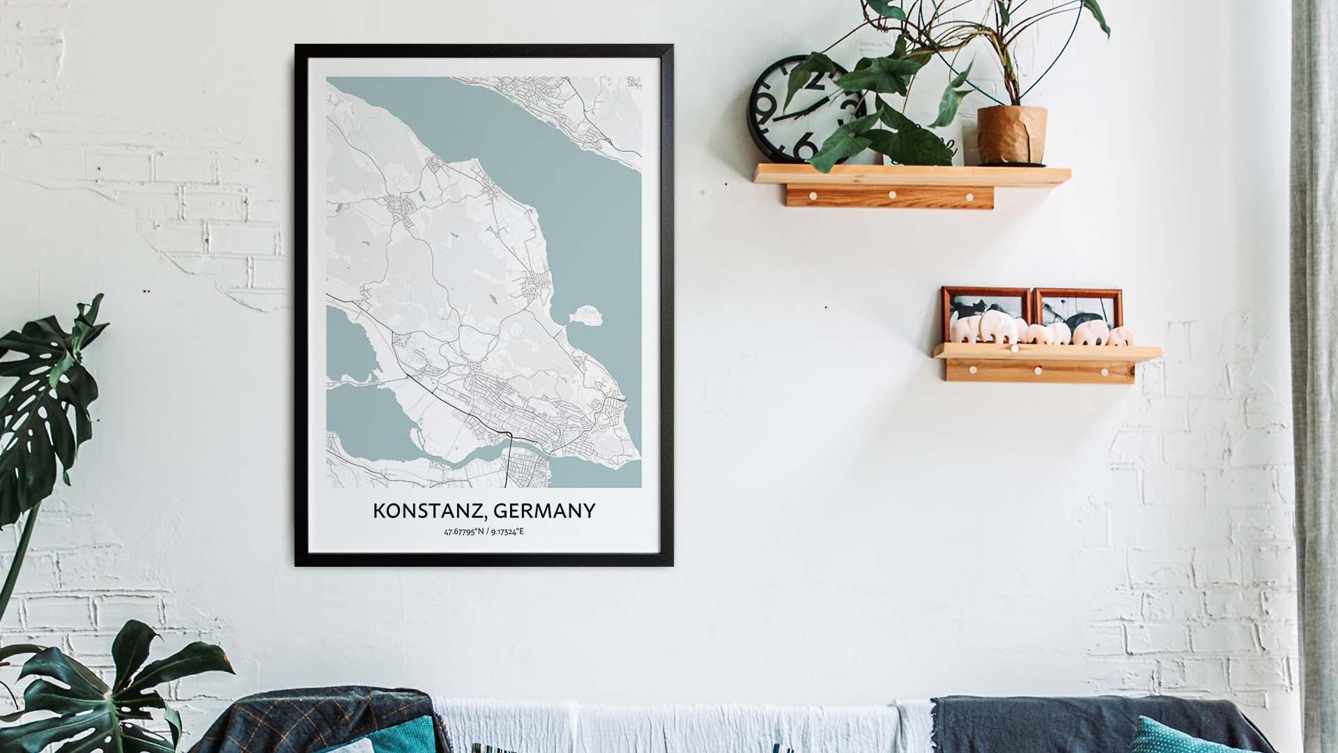 Konstanz map art