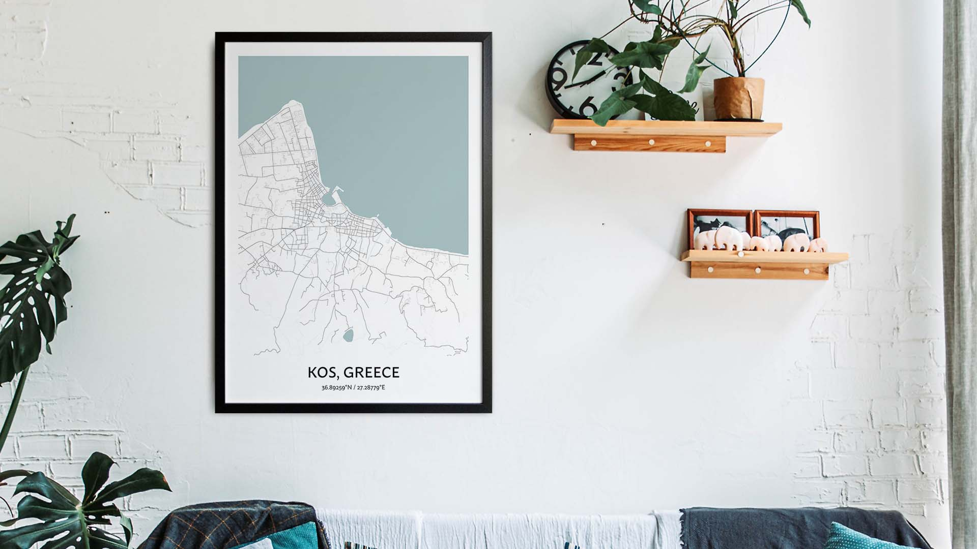 Kos map art