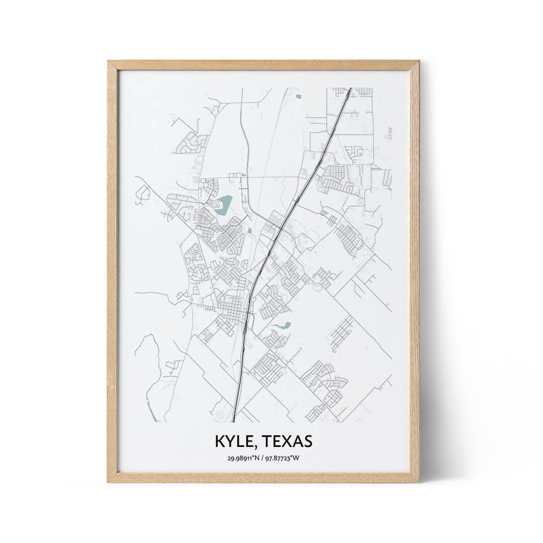 Kyle city map poster