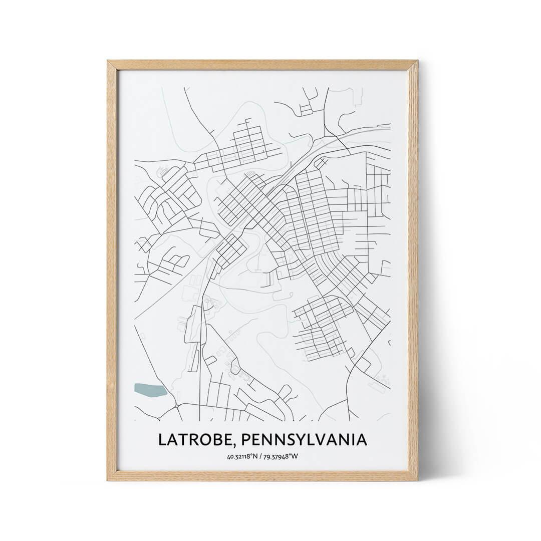 Latrobe city map poster