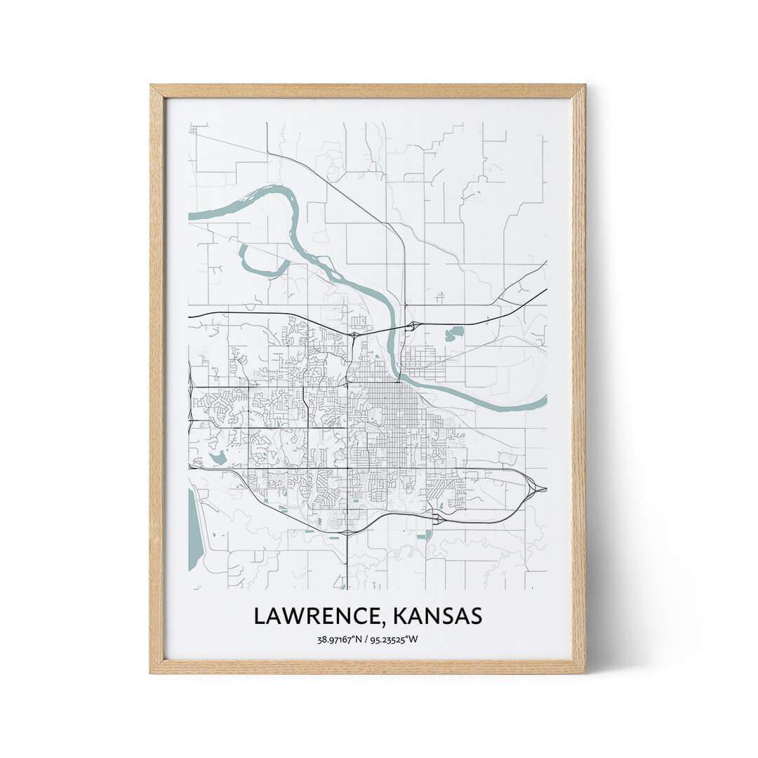 Lawrence city map poster