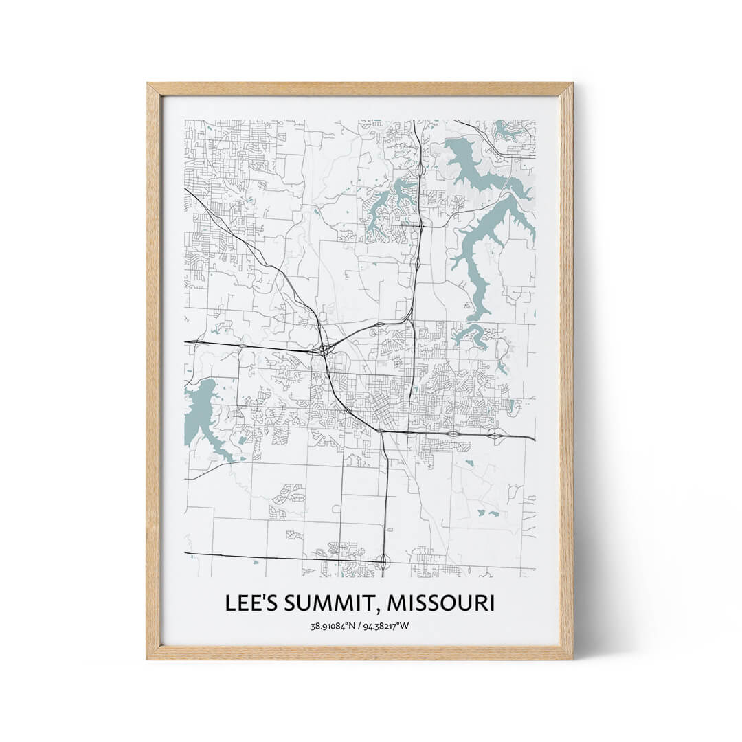 Lee's Summit city map poster