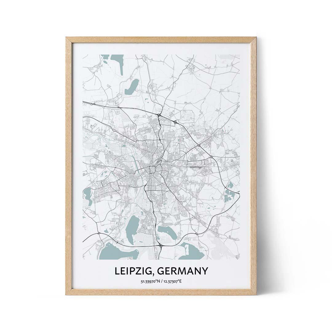 Leipzig city map poster