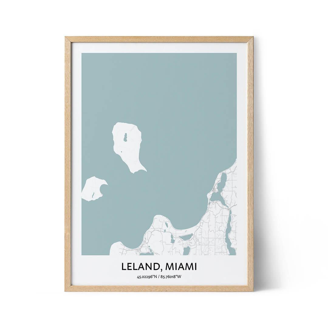 Leland city map poster