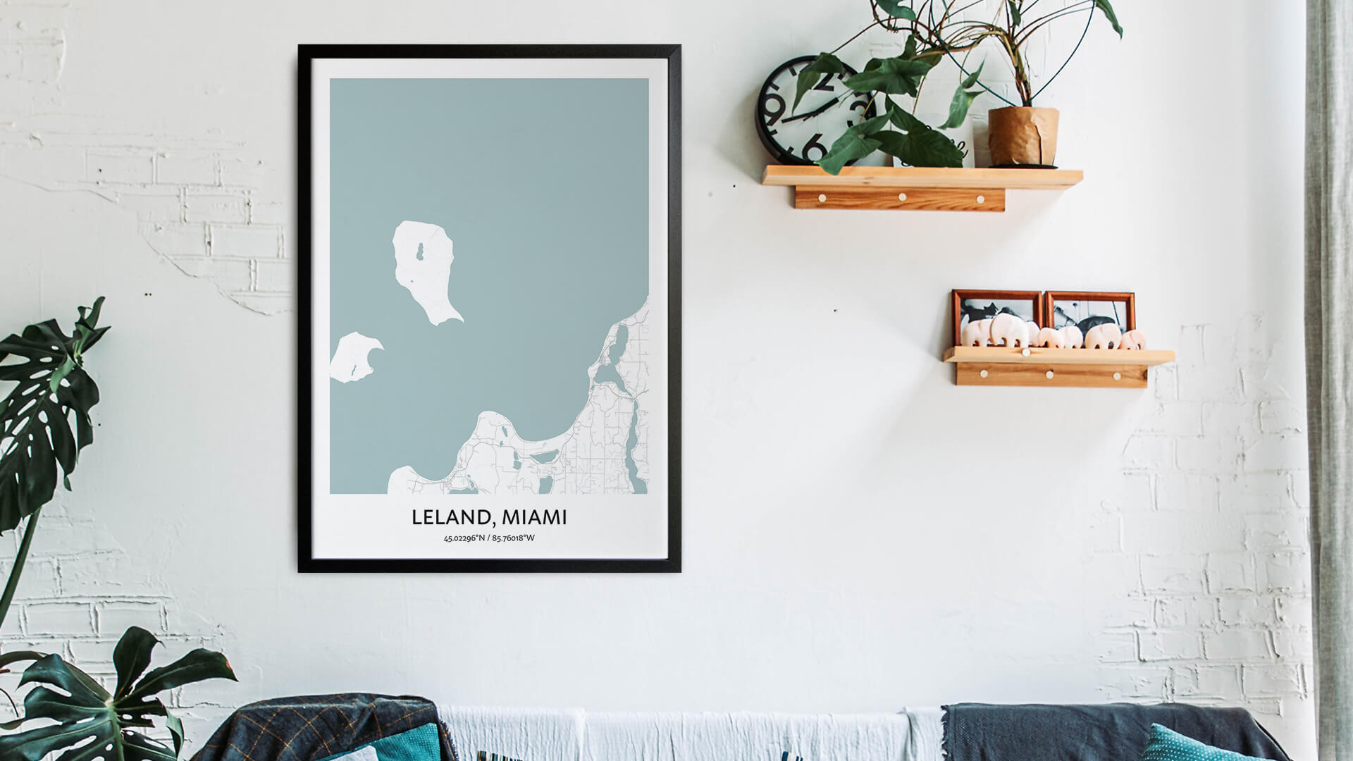 Leland map art