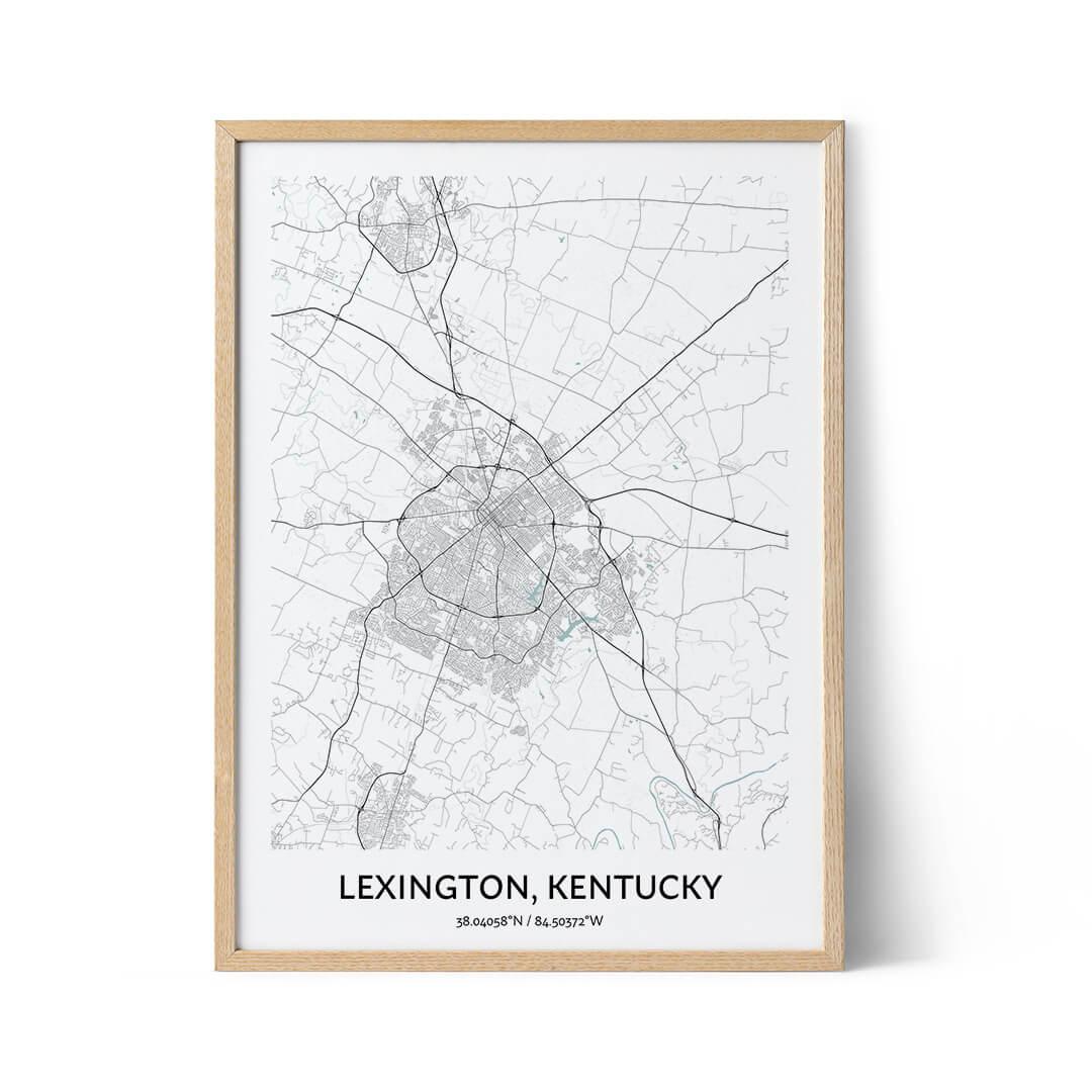 Lexington city map poster