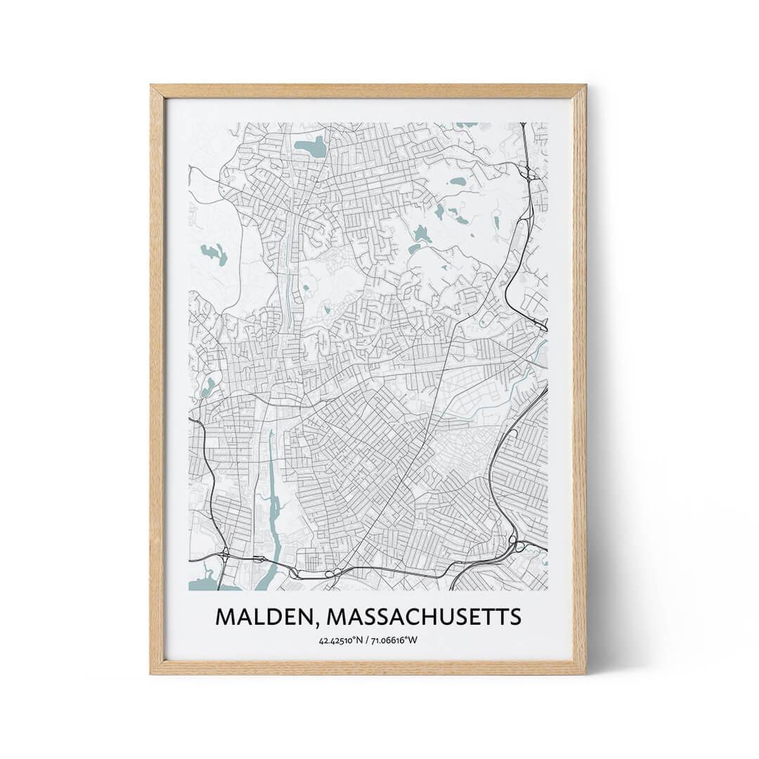 Malden city map poster
