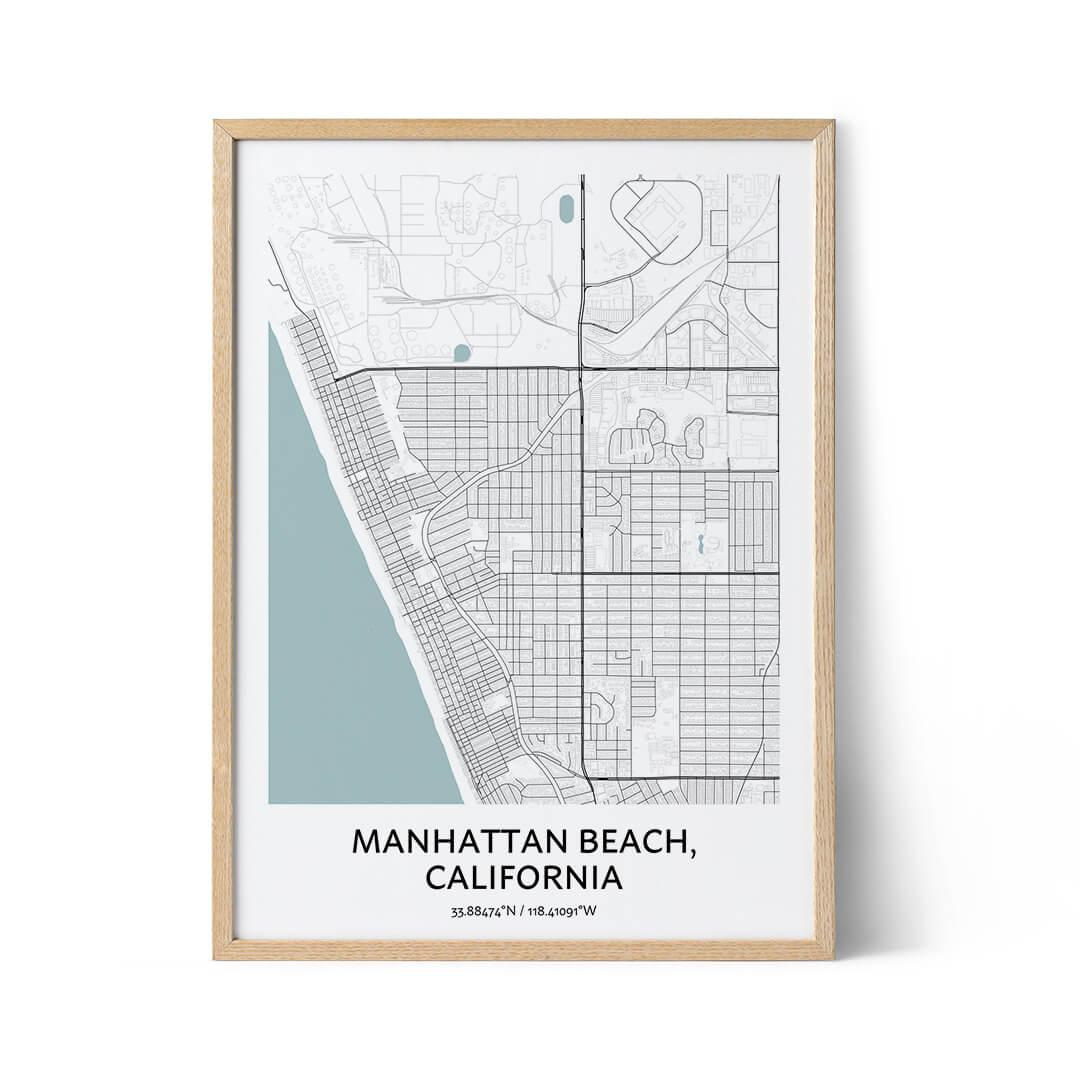 Manhattan Beach city map poster