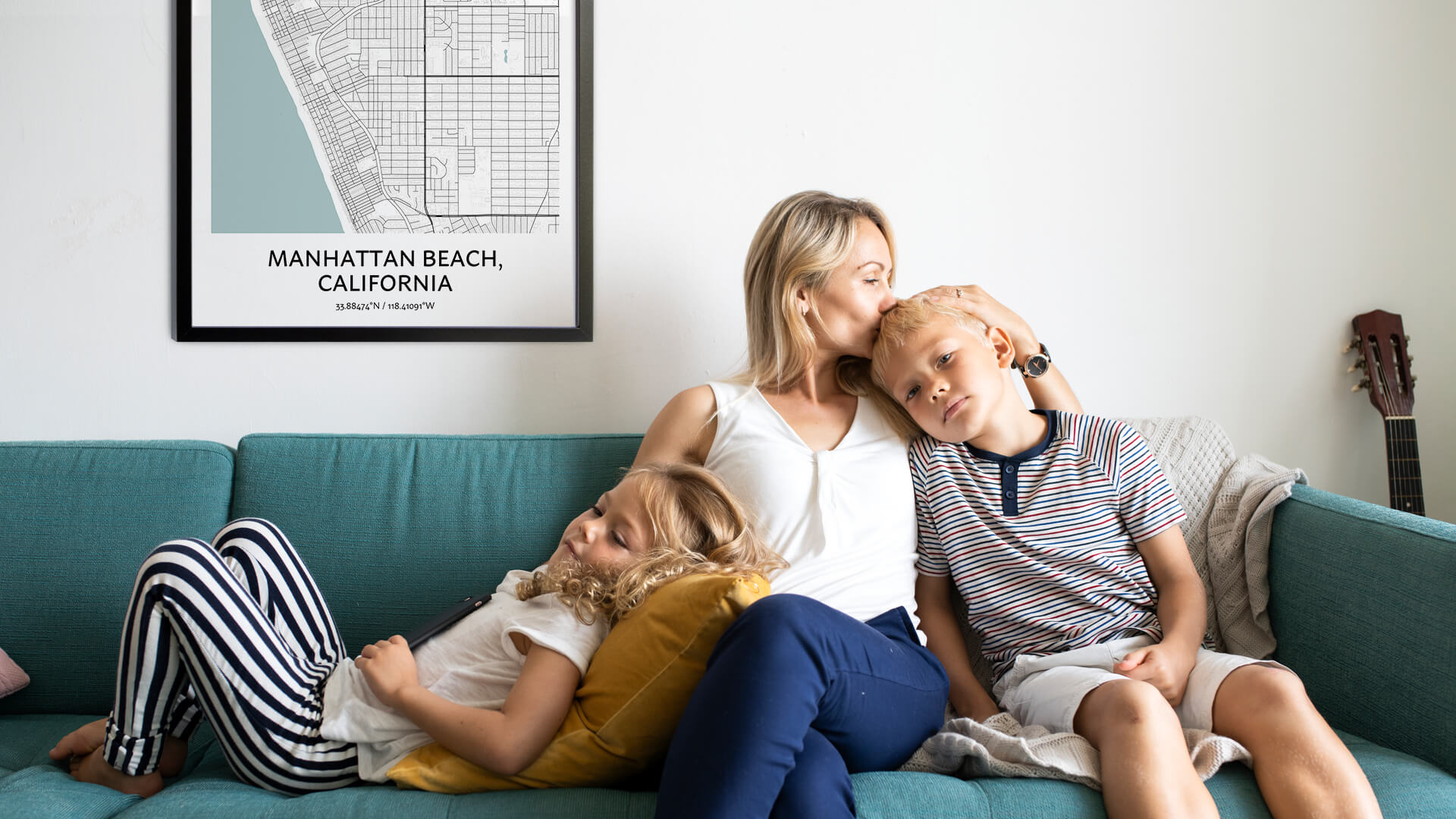 Manhattan Beach map poster