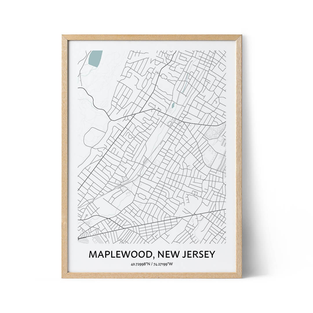 Maplewood city map poster