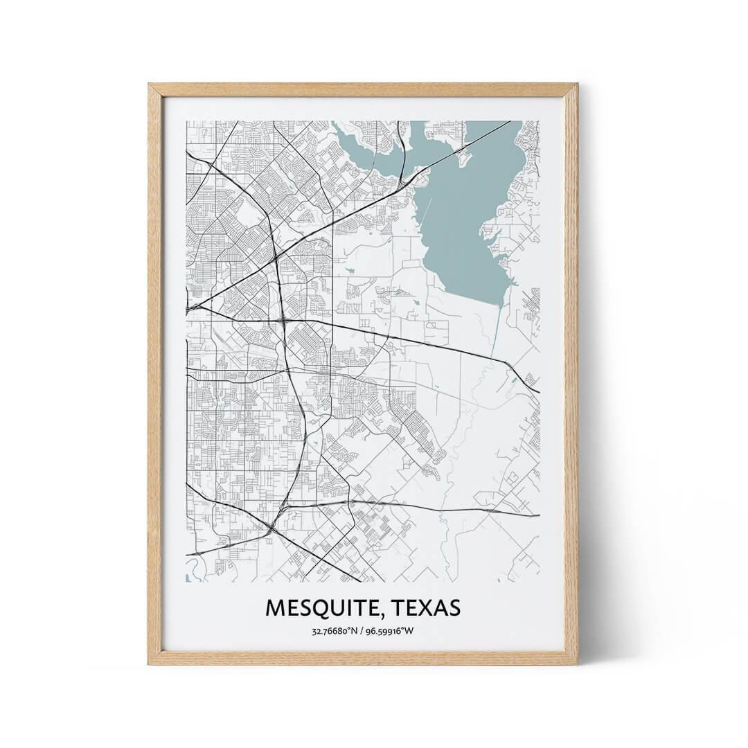 Mesquite city map poster