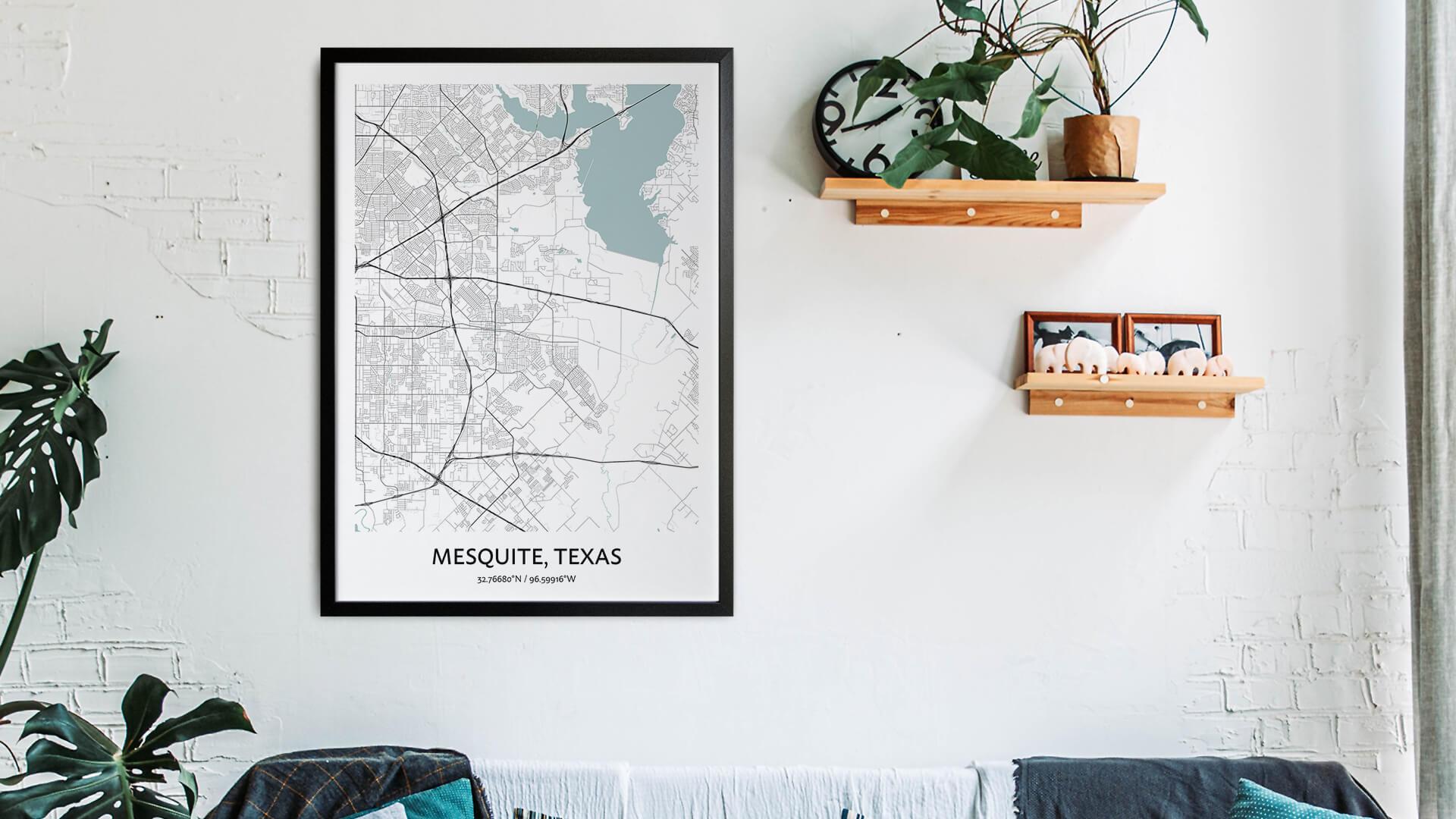 Mesquite map art