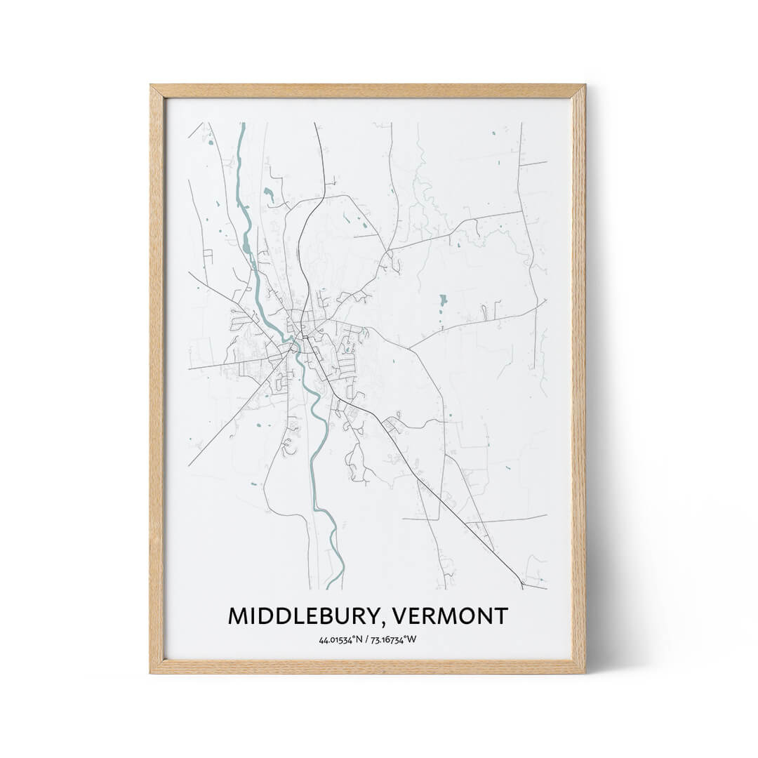 Middlebury city map poster