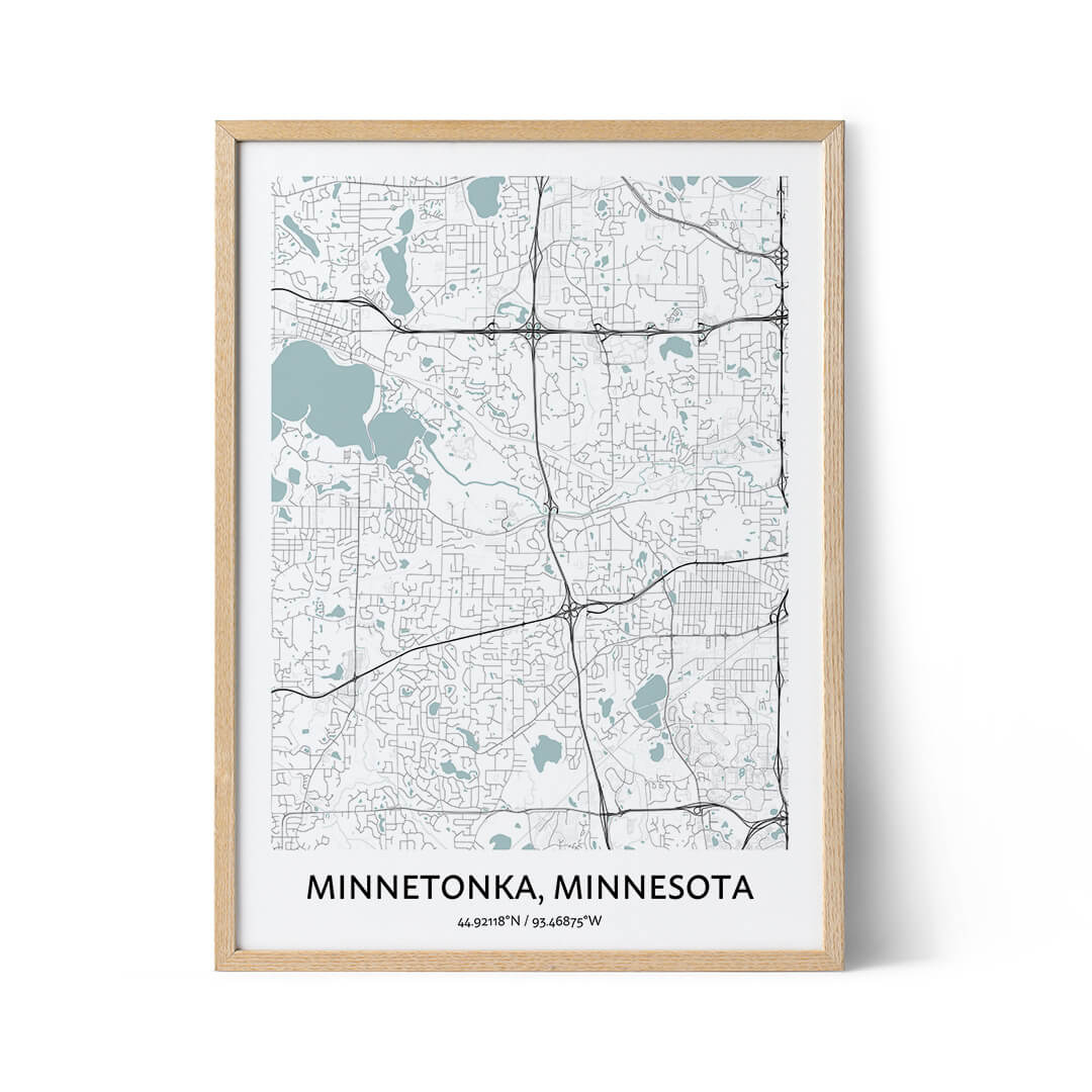 Minnetonka city map poster