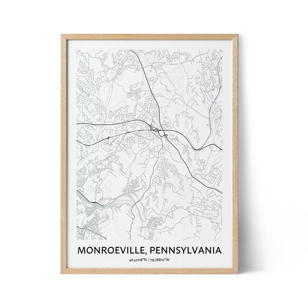Monroeville city map poster