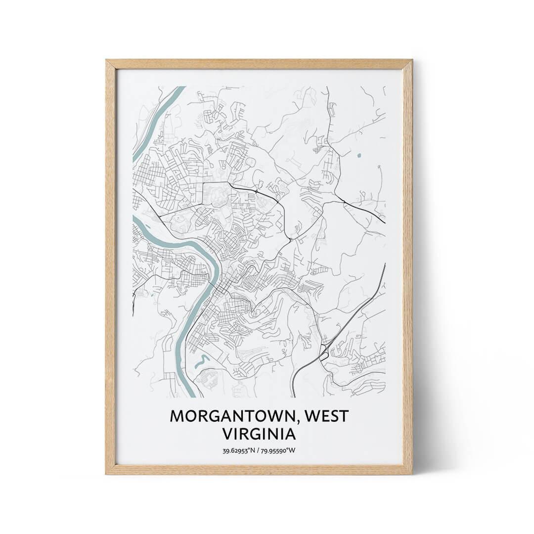 Morgantown city map poster