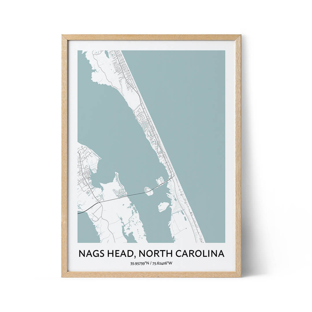 Nags Head city map poster