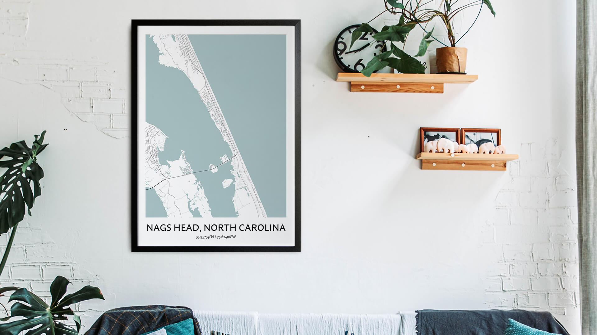 Nags Head map art