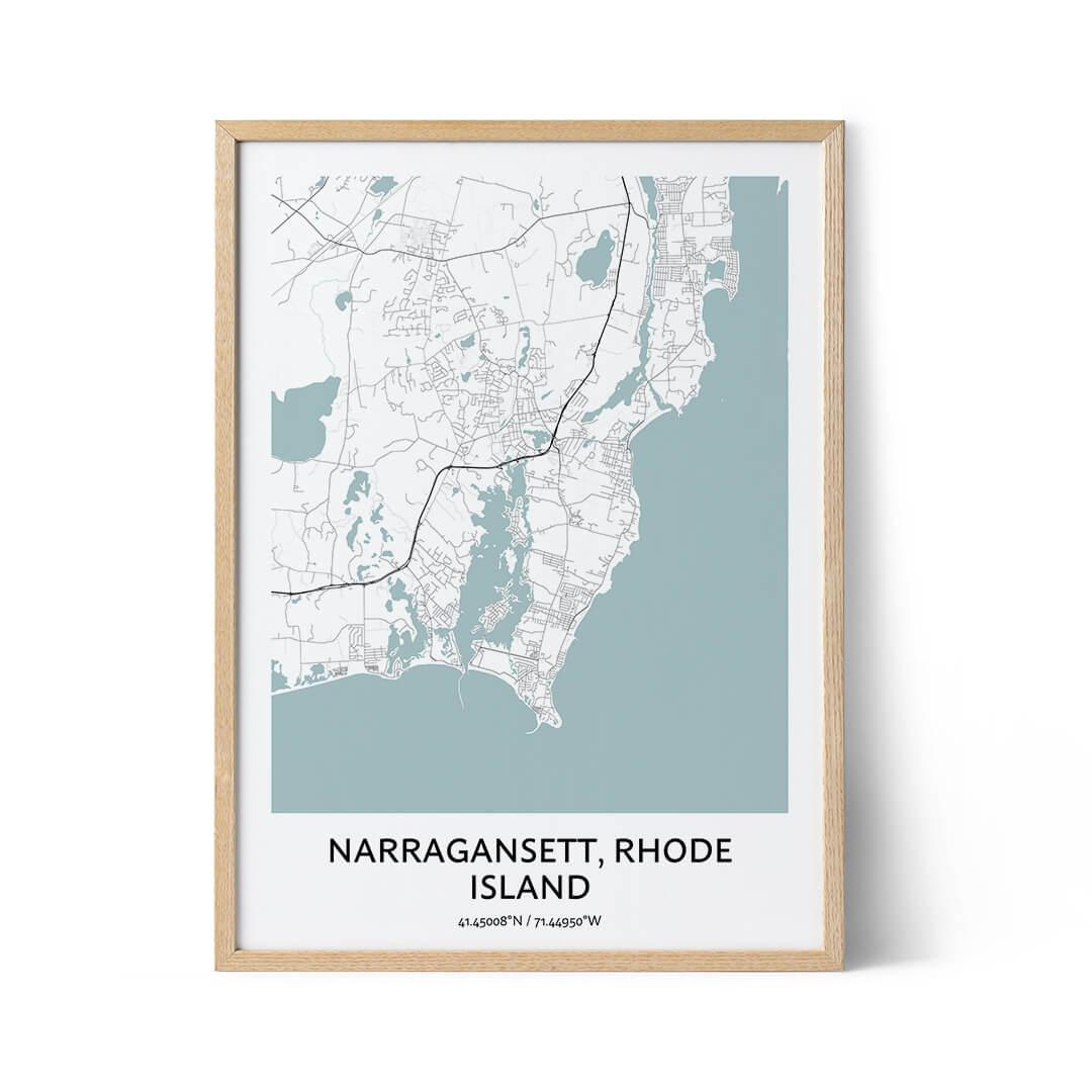 Narragansett city map poster
