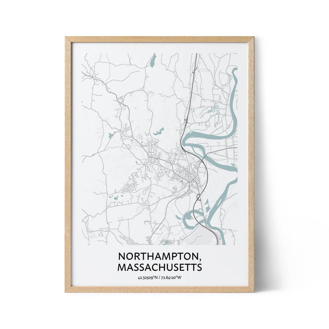 Northampton city map poster