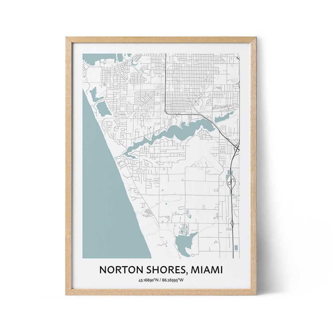 Norton Shores city map poster