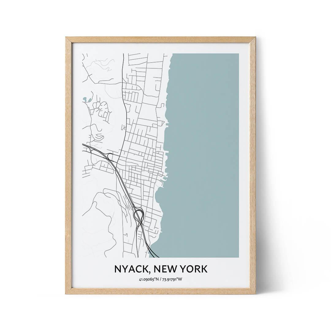 Nyack city map poster