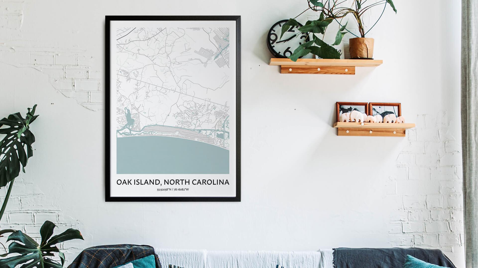 Oak Island map art