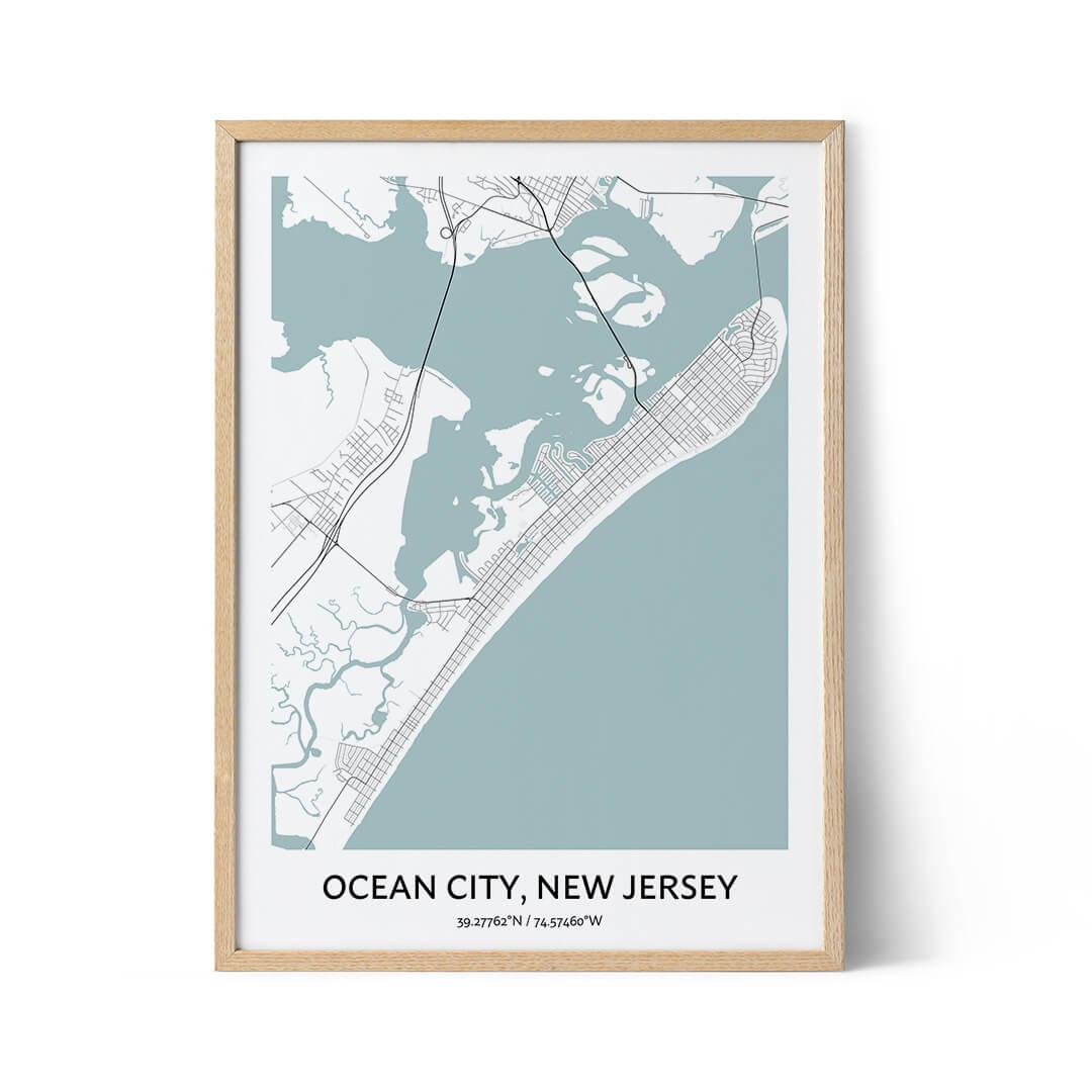 Ocean City city map poster