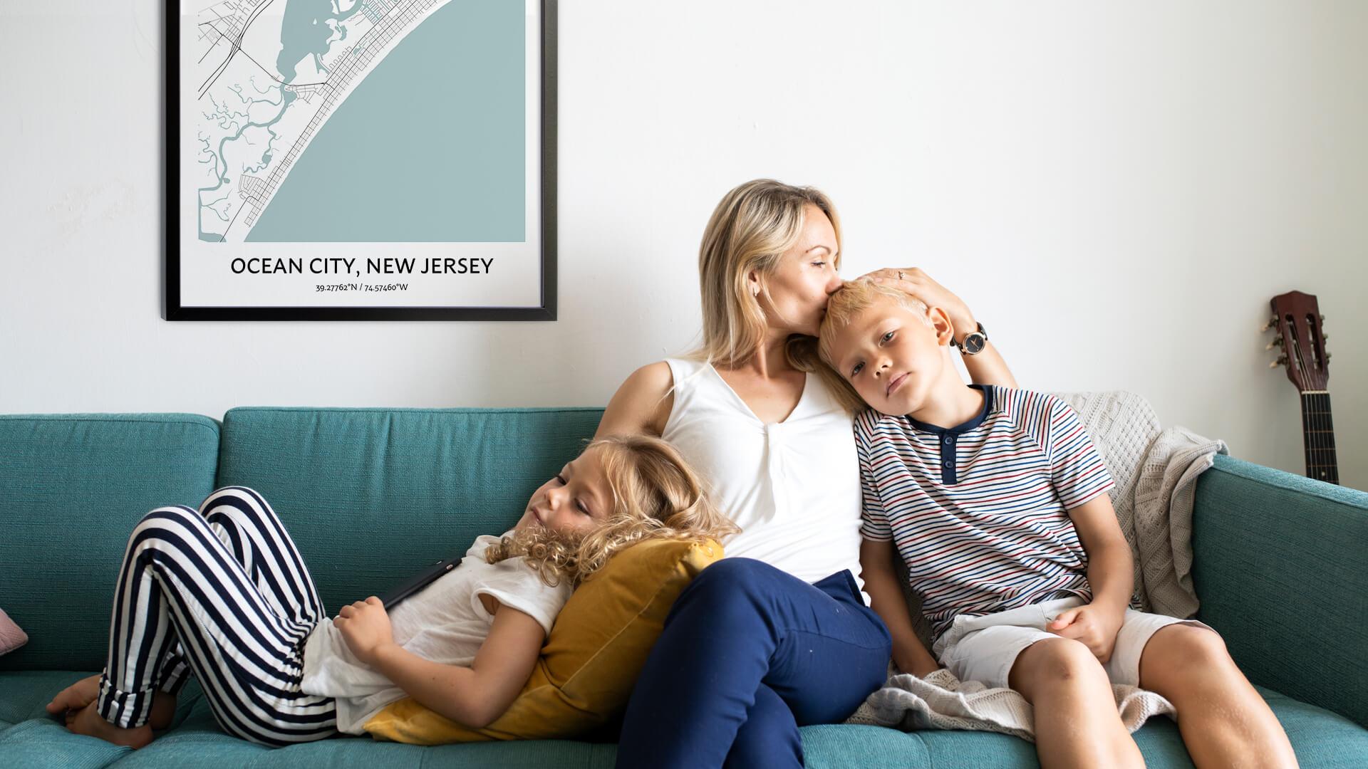 Ocean City map poster
