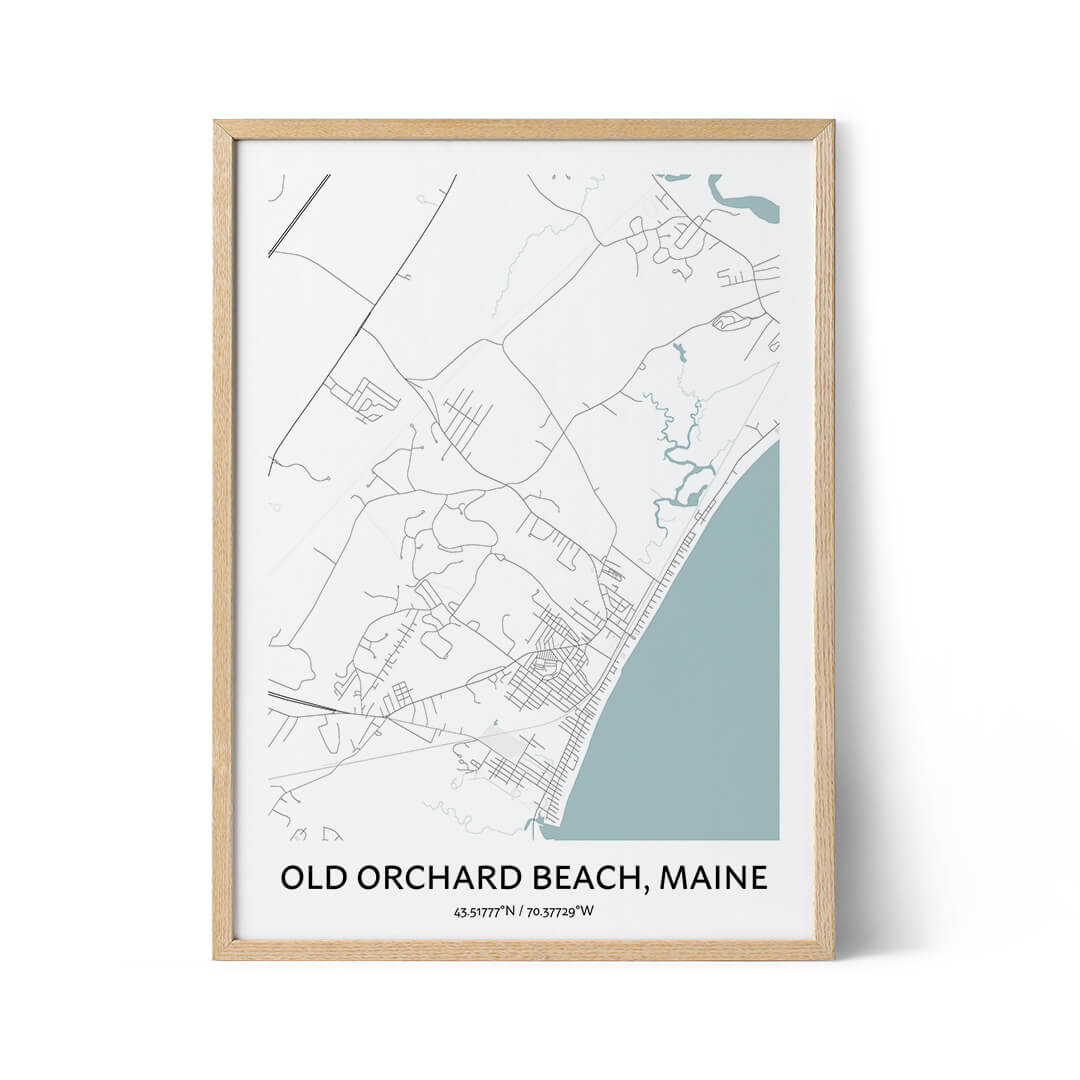 Old Orchard Beach city map poster