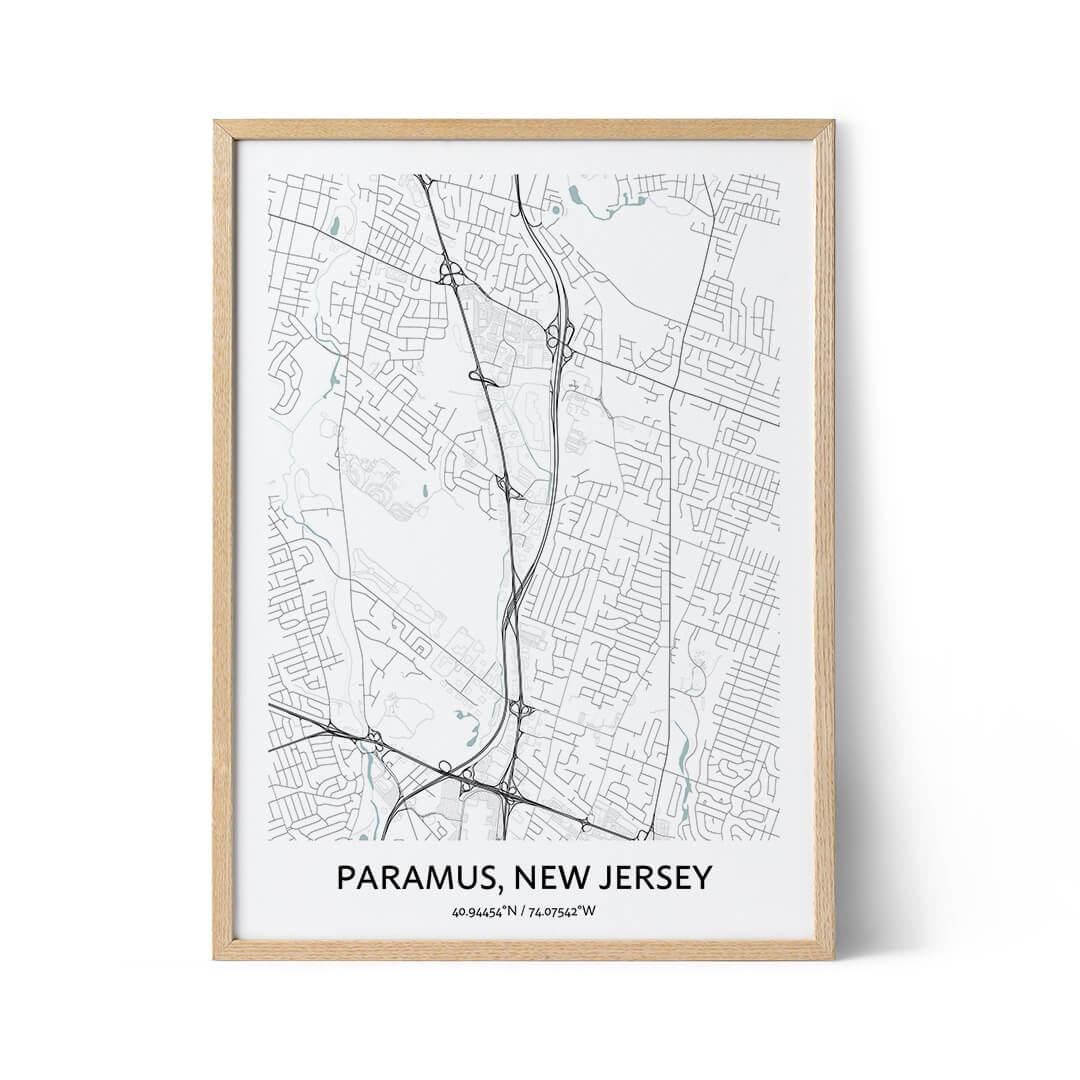Paramus city map poster