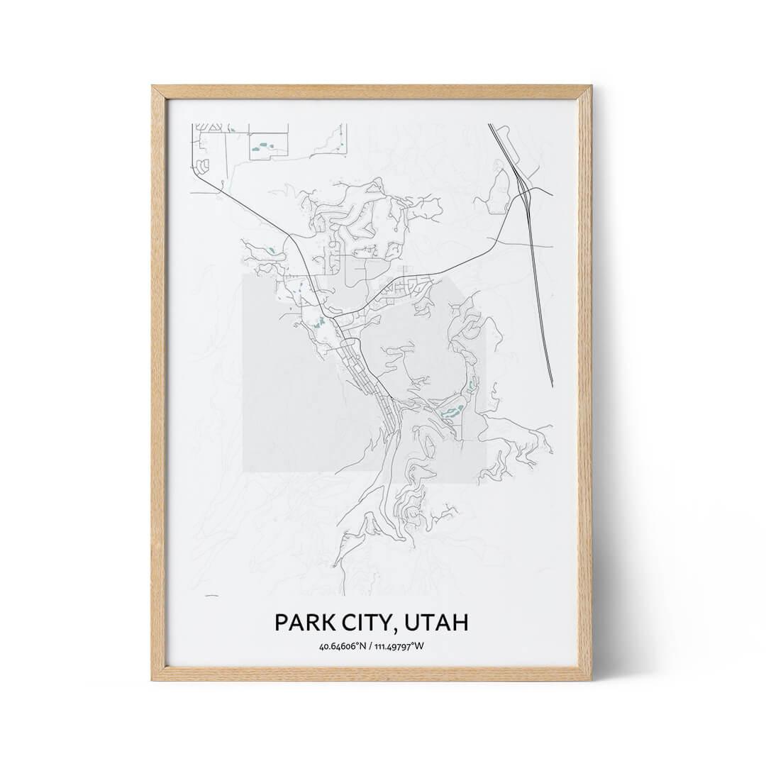 Park City city map poster