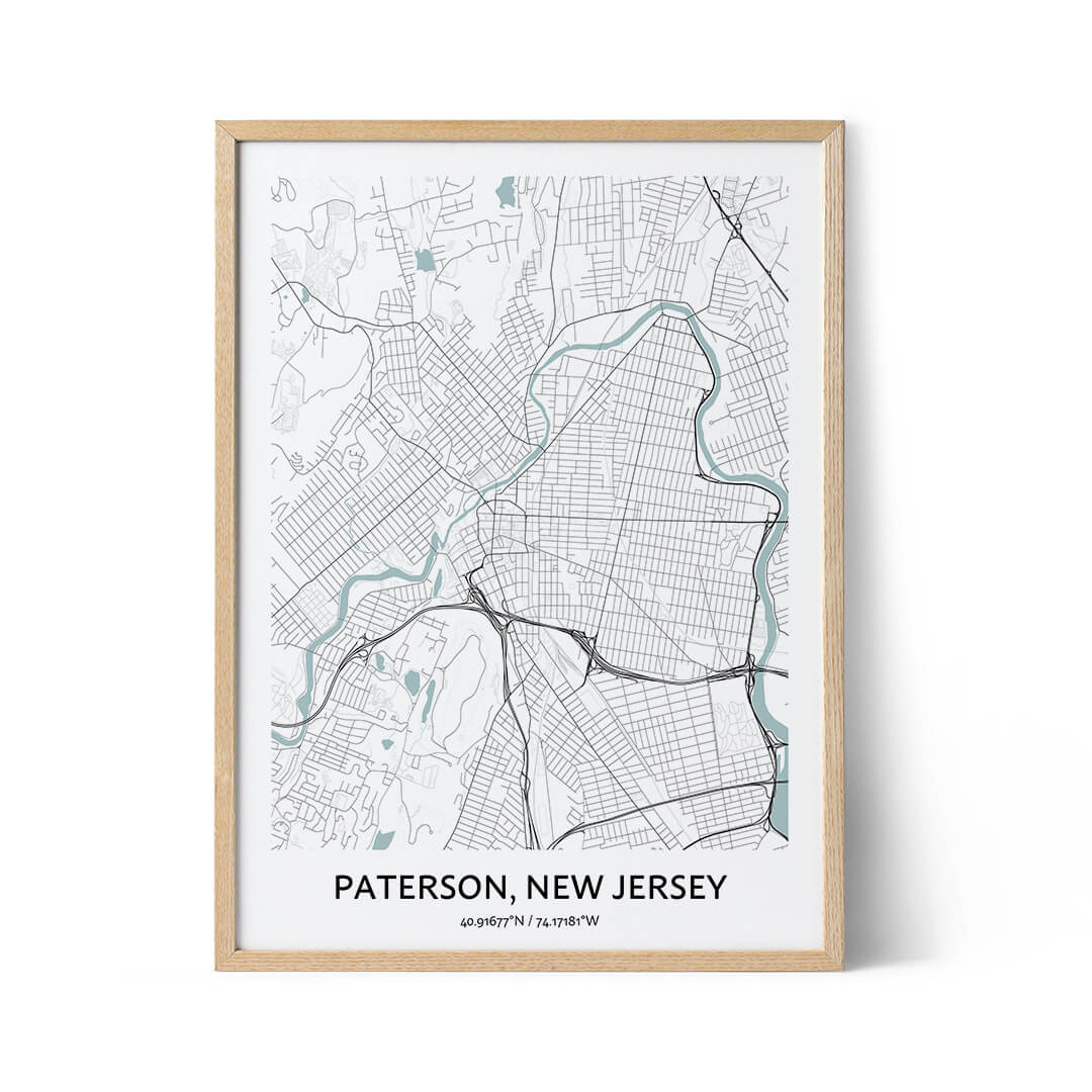 Paterson city map poster