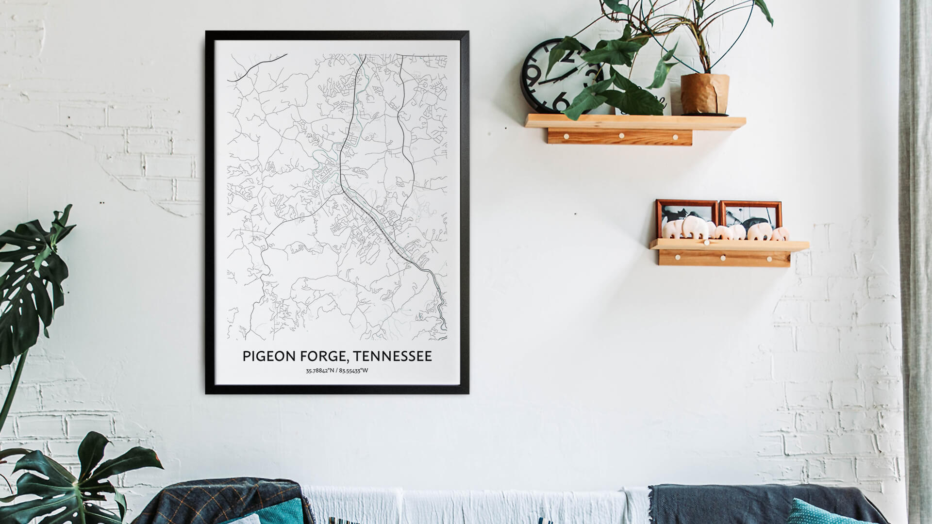Pigeon Forge map art
