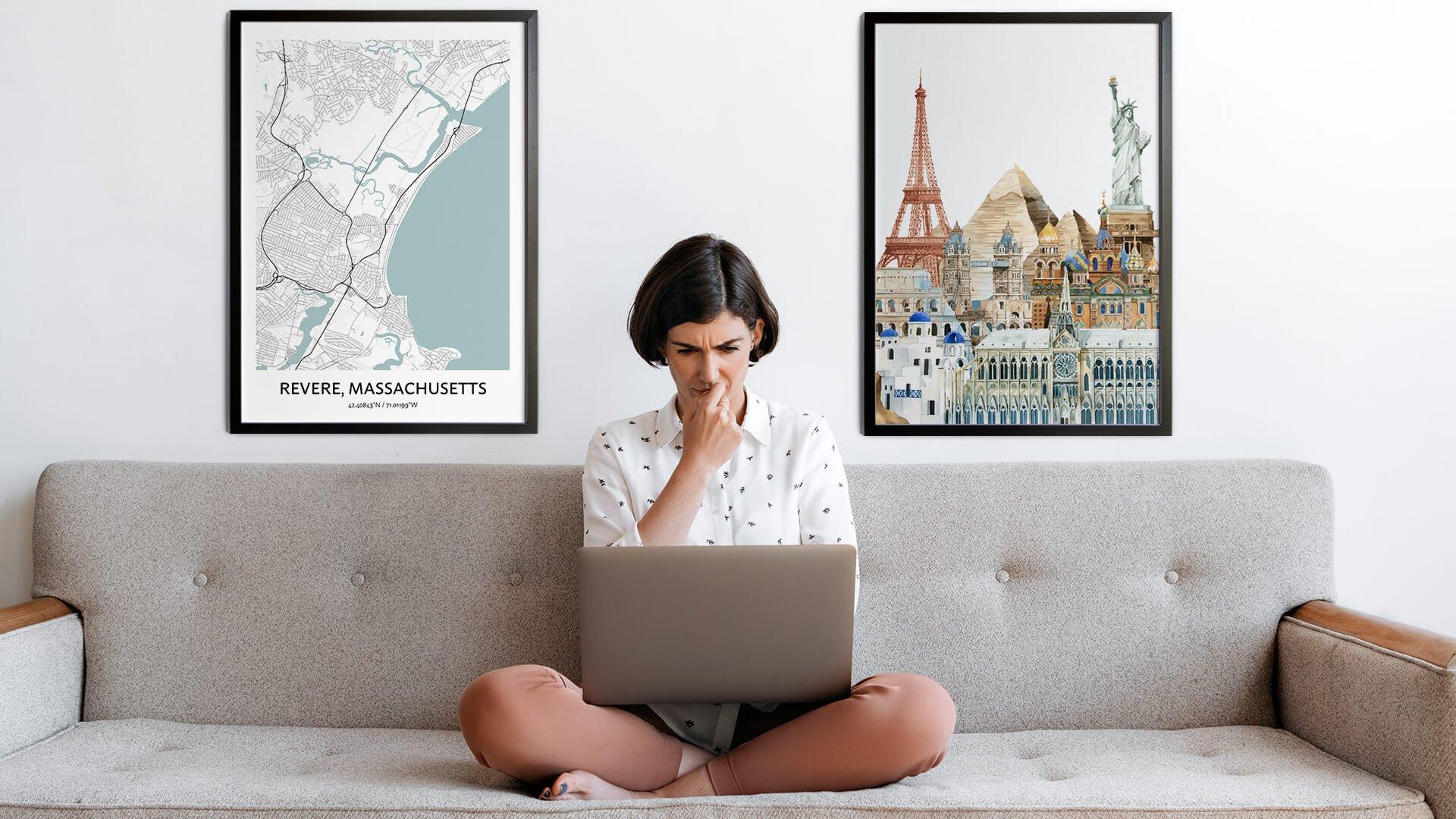 Revere city map art