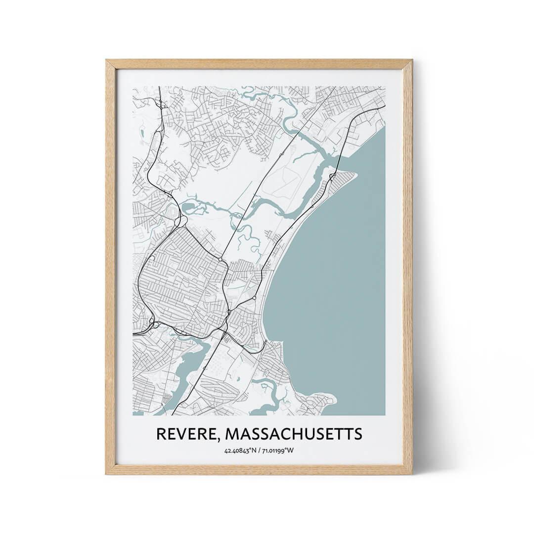 Revere city map poster