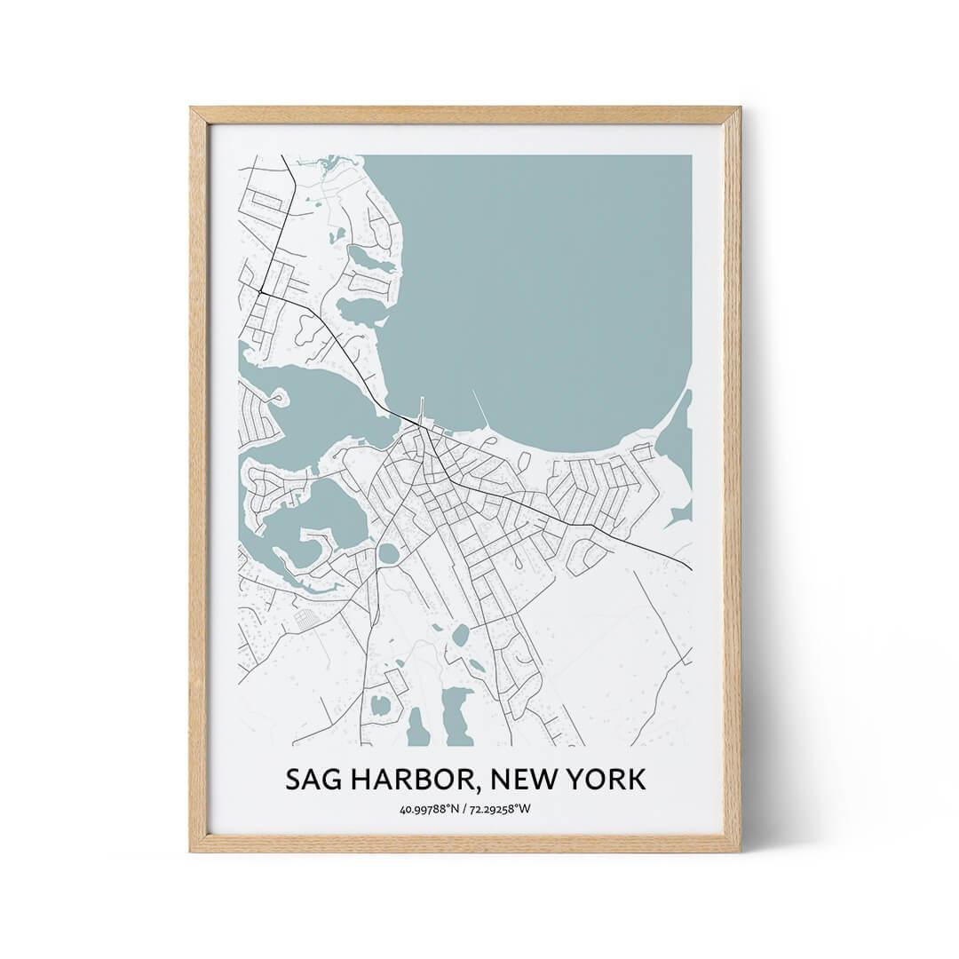 Sag Harbor city map poster