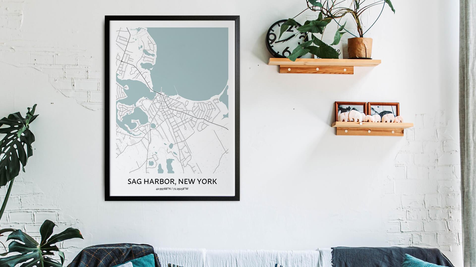 Sag Harbor map art
