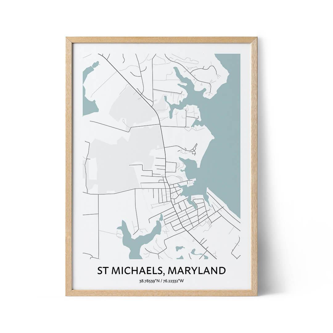 St Michaels city map poster
