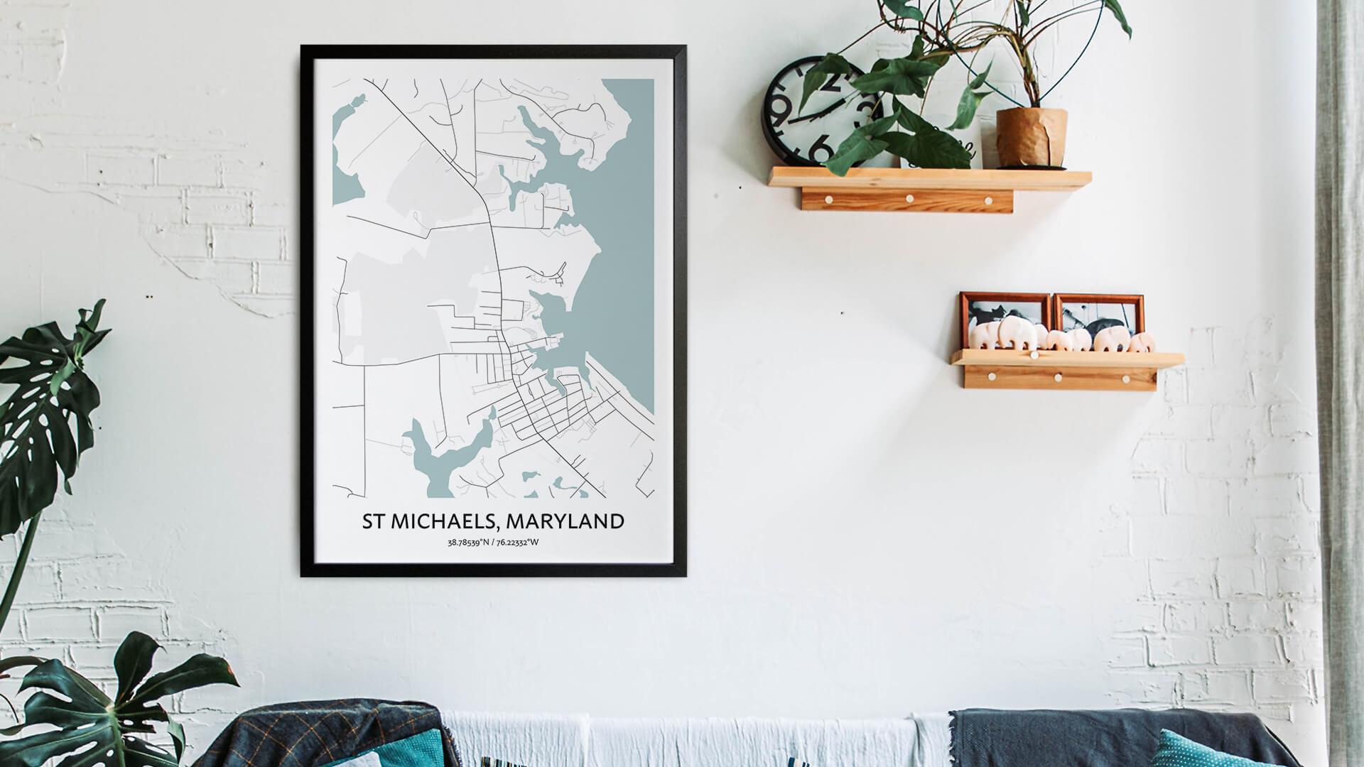 St Michaels map art