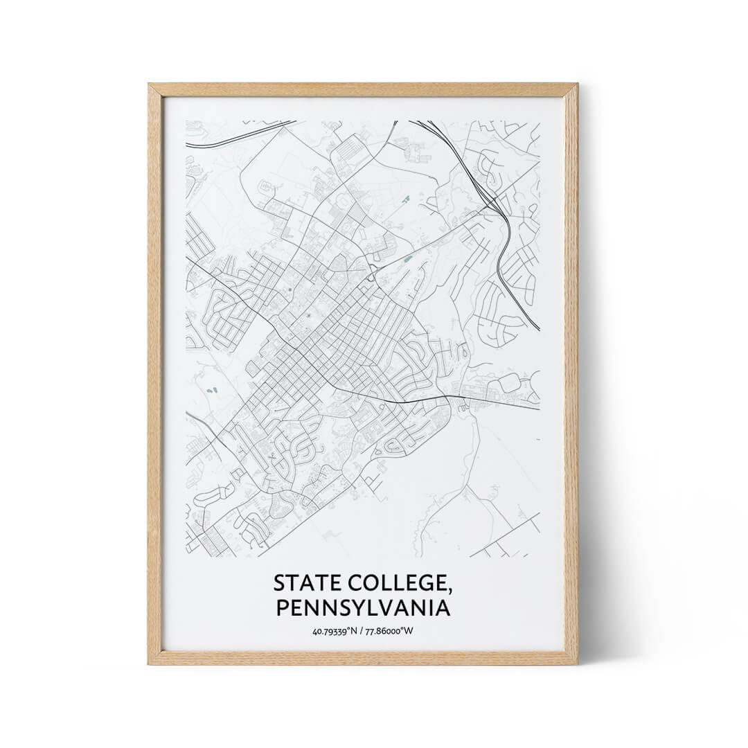 State College city map poster