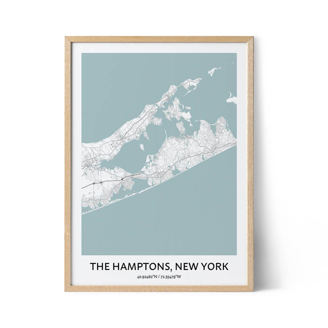 The Hamptons city map poster