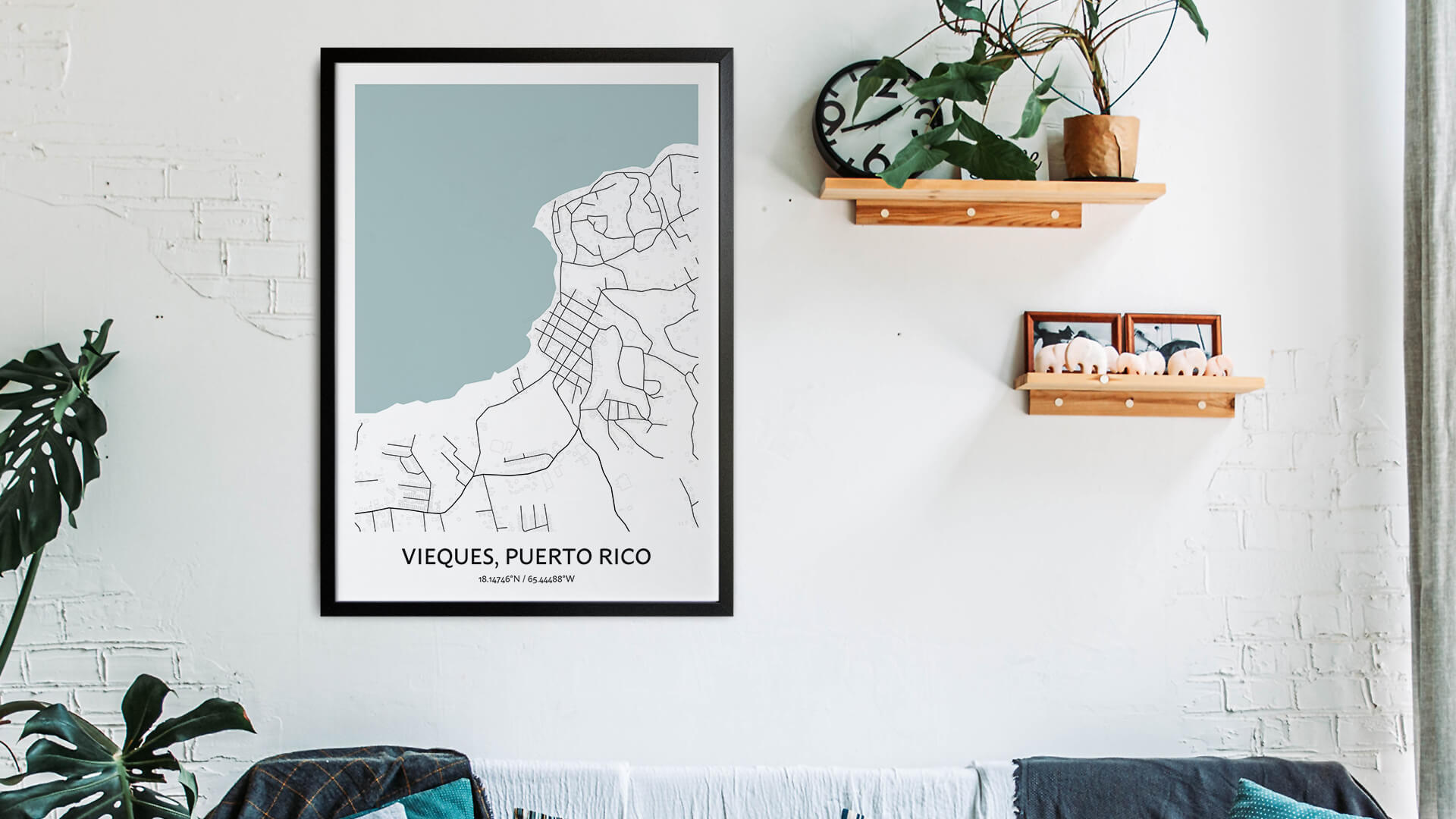 Vieques map art