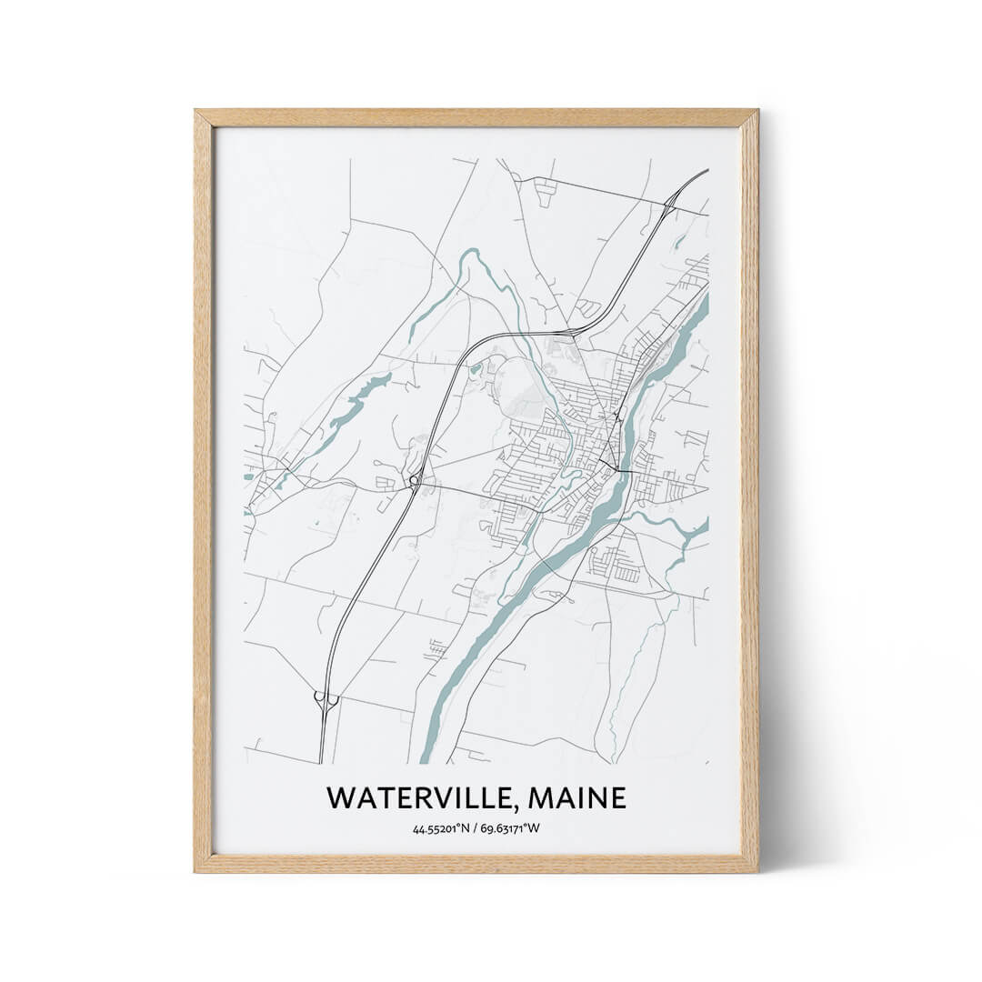 Waterville city map poster