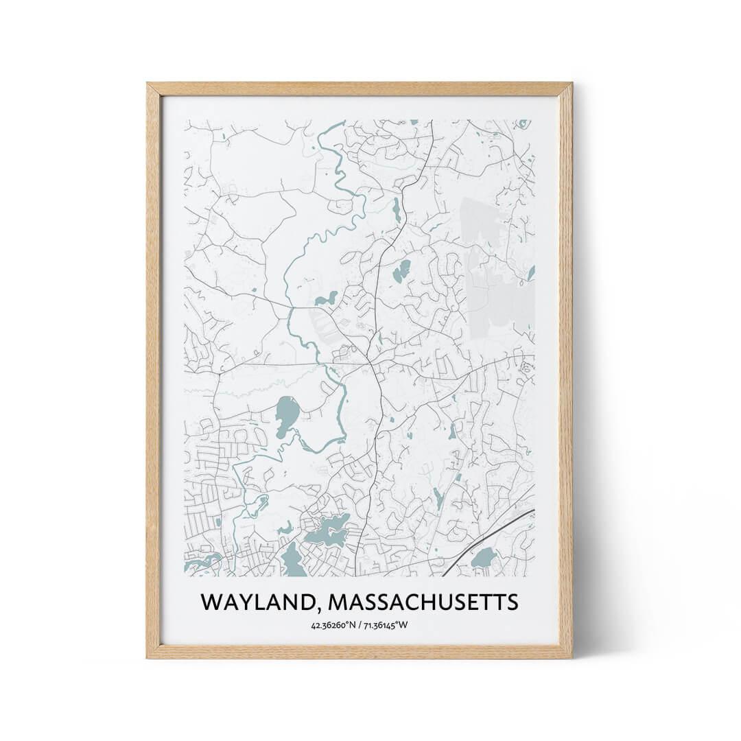 Wayland city map poster