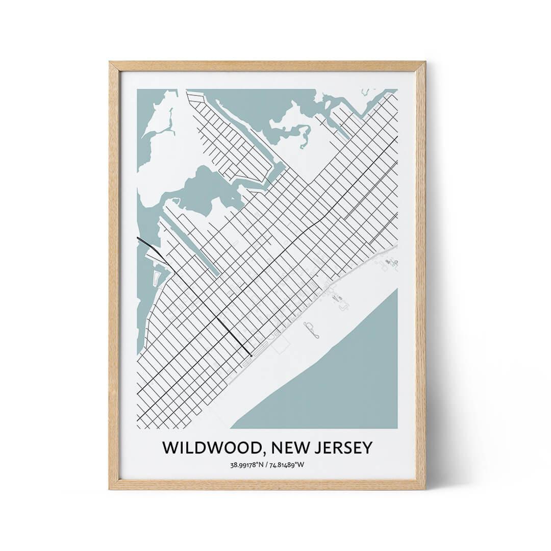 Wildwood city map poster